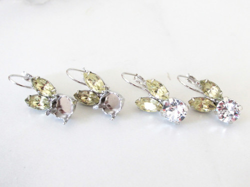 8.5mm | Small Bunny Rhinestone Earrings | One Pair