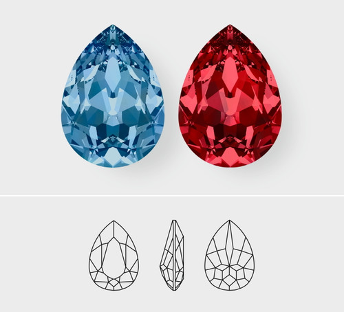 18mm x 13mm | Pear | Swarovski Article 4320 | 3 Pieces
