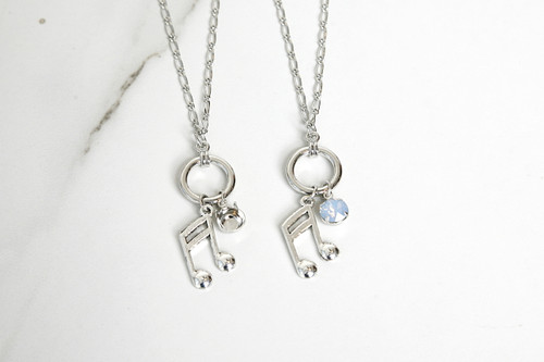 8.5mm | Music Note Charm Necklace | One Piece