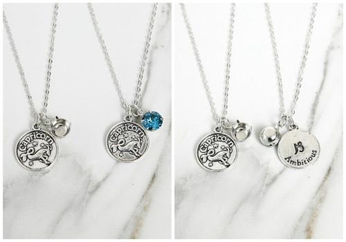 8.5mm | Zodiac Sign Charm Necklace | One Piece