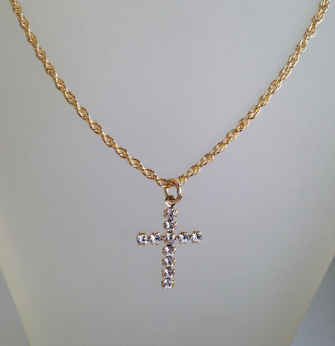 Cross Necklace made with Swarovski Crystals