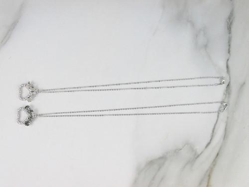 6mm | Paw Print Crystal Rhinestone Necklace | One Piece