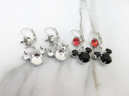 8.5mm, 6mm, & 11mm   Mouse Dangle Earrings view 2