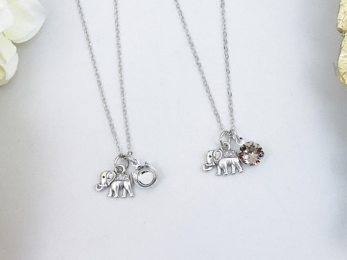8.5mm | Elephant Charm Necklace | One Piece