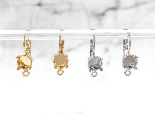 8.5mm | Classic Drop Earrings with Loop | One Pair