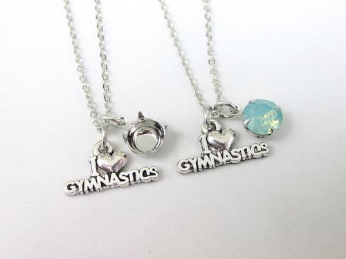 8.5mm | I Love Gymnastics Charm Necklace | One Piece