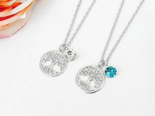 8.5mm | Small Tree Of Life Charm Long 30 Inch Necklace | One Piece