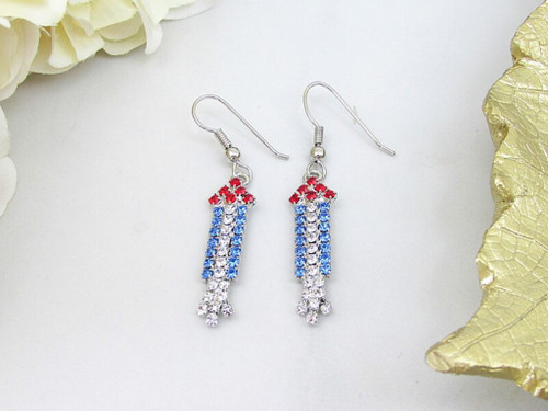 Firework Crystal Rhinestone Earrings | One Pair