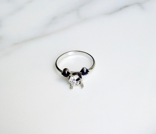 Small Mouse   Simple Band Adjustable Ring