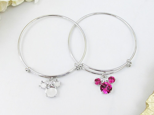 6mm & 11mm | Girl Mouse Bangle Bracelet | One Piece