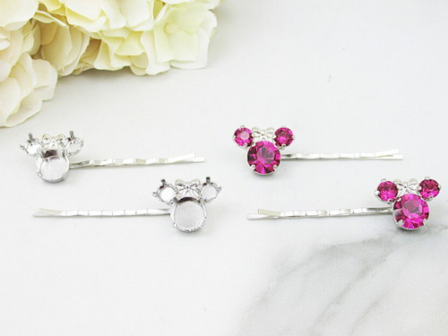 6mm & 11mm | Girl Mouse Bobby Pins | One Pair