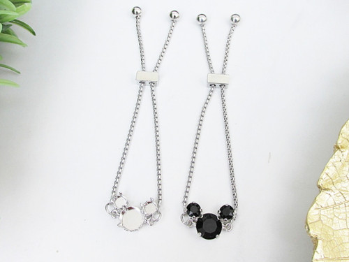 6mm & 11mm | Boy Mouse Adjustable Slider Bracelet | One Piece