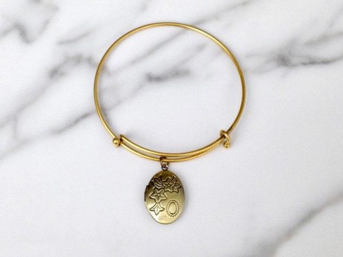 Brass Ox Oval Locket Bracelet
