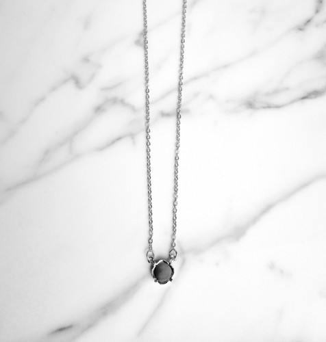 12mm Square | Pendant Necklace | Delicate Chain