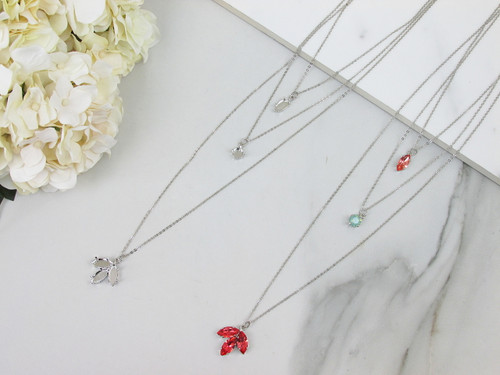 8.5mm & 15mm x 7mm Navette   Layered Necklace   One Piece