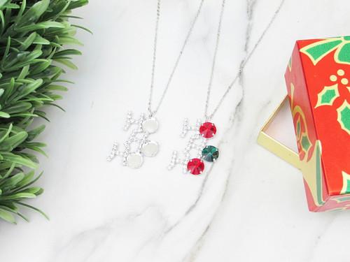 11mm | Ho Ho Ho Crystal Rhinestone Necklace | One Piece