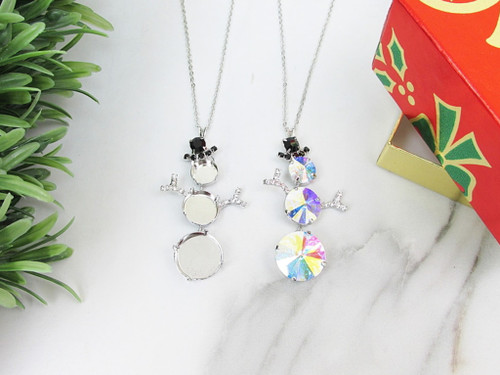 11mm, 14mm, & 18mm | Snowman Crystal Rhinestone Necklace | One Piece