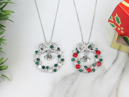 6mm | Wreath Crystal Rhinestone Necklace | One Piece