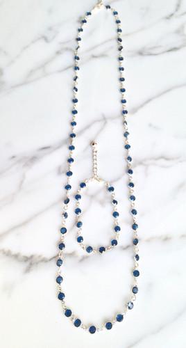 Bracelet and Necklace Set made with Swarovski Vintage Crystal Chanel