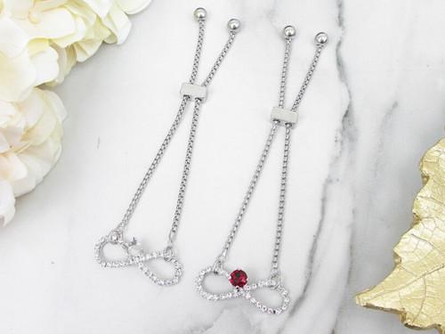 6mm | Infinity Symbol Crystal Rhinestone Slider Bracelet | One Piece