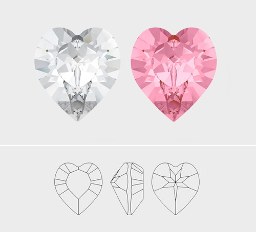 8mm | Xilion Heart | Swarovski Article 4884 | Different Quantities Available