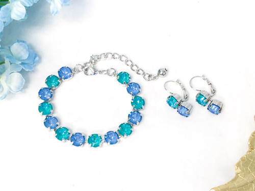Caribbean Waters Jewelry Set made with Swarovski Crystals