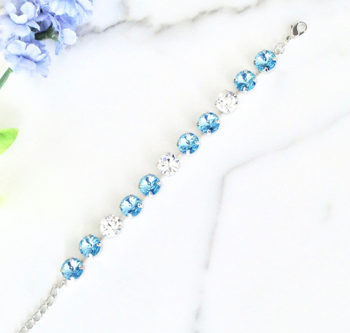 The Frozen Bracelet made with Swarovski and Preciosa Crystals