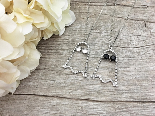 6mm | Crystal Rhinestone Ghost Necklace