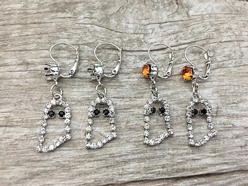 6mm | Ghost Dangle Lever Back Earrings
