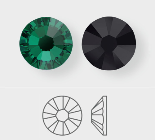 Swarovski Flatback Hotfix crystals for nail art