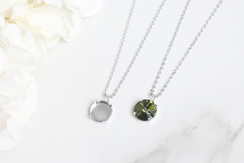 12mm Round | Single Pendant On Necklace Chain | One Piece