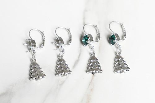 8.5mm | Christmas Tree Drop Earrings | One Pair