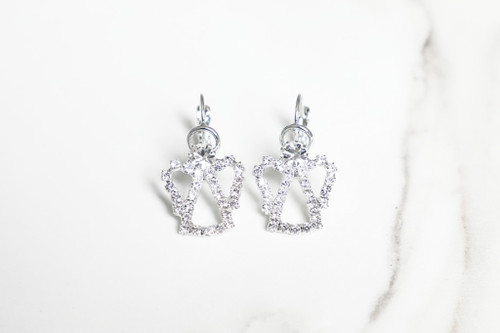 Angel Crystal Rhinestone Earrings