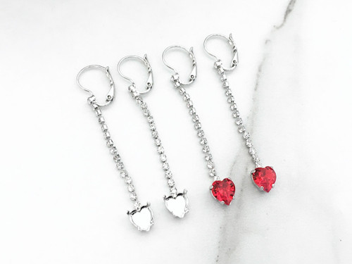 8mm Heart | Enchanted Heart Earrings | One Pair
