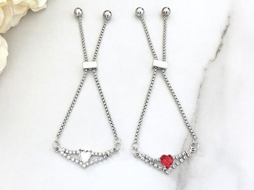 8mm Heart | Enchanted Heart Slider Bracelet | One Piece