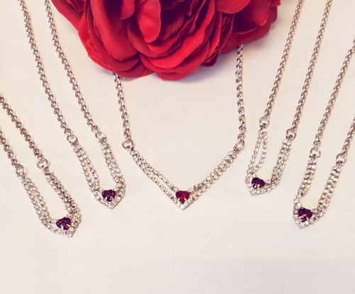 Enchanted Heart Necklace Bundle with Swarovski Crystals