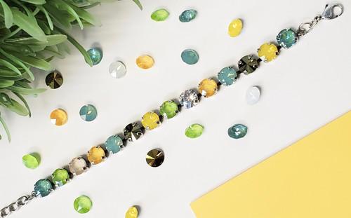 Hello Spring Bracelet made with Swarovski Crystals