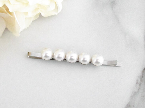 8mm | Glass Pearl Bobby Pin | One Piece