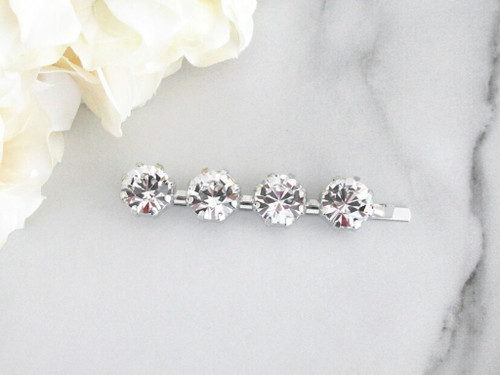 11mm | Tiffany Crystal Bobby Pin | One Piece