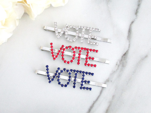 Vote Crystal Bobby Pin | One Piece - Choose Crystal Color