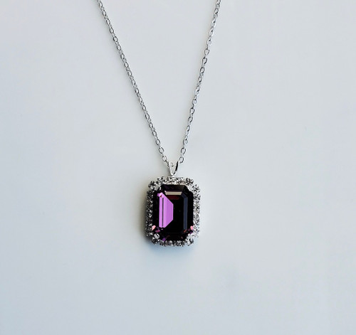 The Hope Necklace 18 x 13 Amethyst