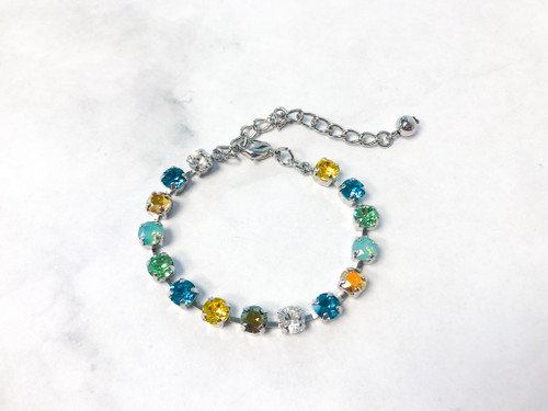 Tropical Bracelet made with 6mm Swarovski Crystals | Ready to Wear