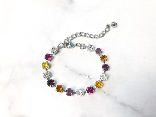 Endless Weekend Bracelet made with 6mm Swarovski Crystals | Ready to Wear