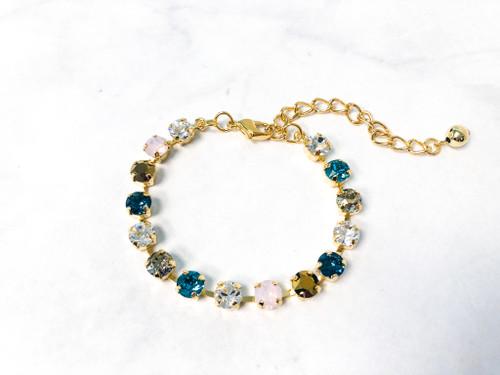 Saltwater Breeze Bracelet made with 6mm Swarovski Crystals | Ready to Wear