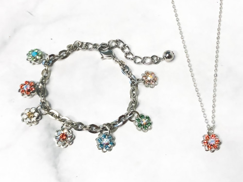 Dazzling Daisies Set made with Swarovski Crystals