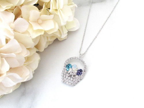 Easter Basket With Eggs Rhinestone Necklace | One Piece