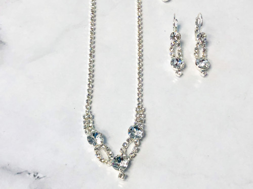 Necklace and Earring Set made with Swarovski Crystals