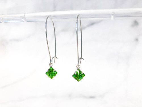 Peridot Jewelry Set made with Swarovski Crystals