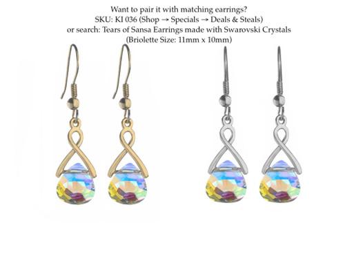 Briolette Loop Through Necklace made with Swarovski Crystal