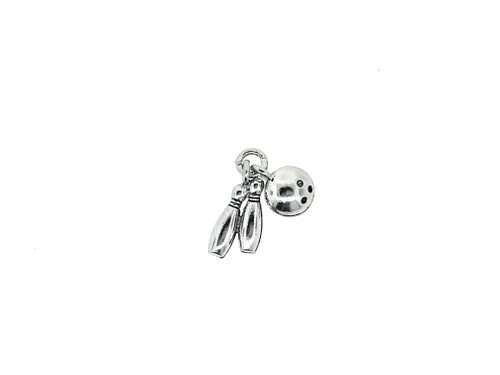Bowling Ball and Pins Charm 5 Pieces Per Pack
